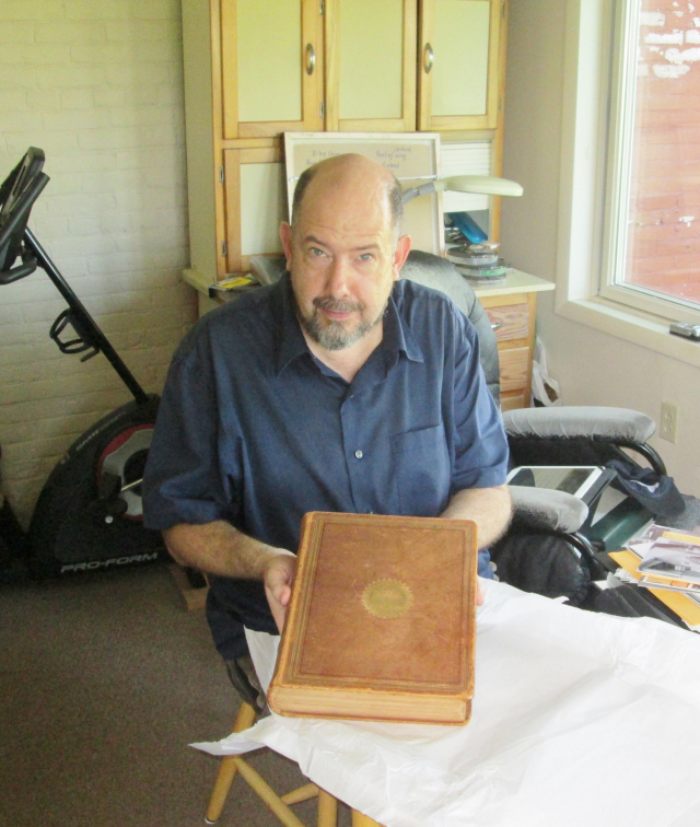 Carl with the 172 year old Monty Family Bible.