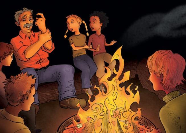 Image result for telling tales campfire